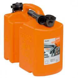 Bidon combiné orange 5L / 3L avec becs verseur