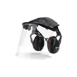 Protège-oreilles Avec Visière Plexiglas