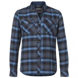 Chemise à carreaux bleu STIHL Homme