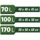 LOT DE 3 SACS 70L/100L/170L